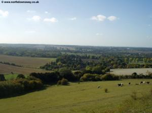 View from the downs near Hollingbourne